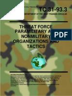 Paramilitary and Nonmilitary Organization and Tactics