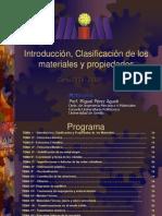 Tema 1 Introduccion, Clasificacion Materiales y Propiedades