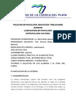 Planificación de Cátedra Antropología Cultural Psicología