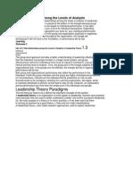 Interrelationships Among the Levels of Analysis