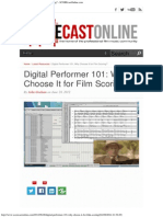 Digital Performer 101_ Why Choose It for Film Scoring