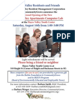 Computer Lab Opening Flyer