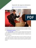 Colombia, Adquisición de Seguros Extranjeros