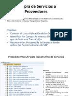 Tratamiento de Servicios en SAP