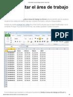 Cómo Limitar El Área de Trabajo en Excel - Excel Total