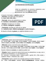 Classes Gramaticais - Adjetivo