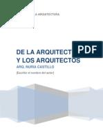 De La Arquitectura y Los Arquitectos