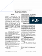 Best Practices for Pv Solar Home System Projects Ieee Paper