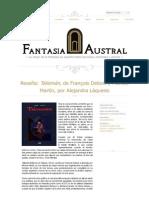 "Crítica a ""Talismán"", de François Deobis & Montse Martín"