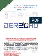SÉPTIMO SEMESTRE. Recomendaciones de Profesores 2015-1 DERECHO 2.0 (Plan 1447) ACTUALIZADAS.pdf
