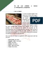 Conservación de Las Carnes a Bajas Temperaturas
