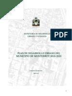 Plan de Desarrollo Urbano Del Municipio de Monterrey