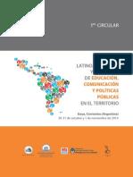 Congreso de Educación, Comunicación y Políticas Públicas - Primera Circular