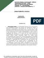 Aplicações Da Cromatografia Gás-líquido