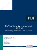 Do You Know Who Your Next CEO Is