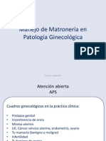 Intervenci n Matroner a Patolog a Gine