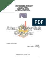 Sistemas de Calculo y Diseño Para Edificaciones