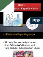 BAB 1- Pengenalan Kepada Kimia