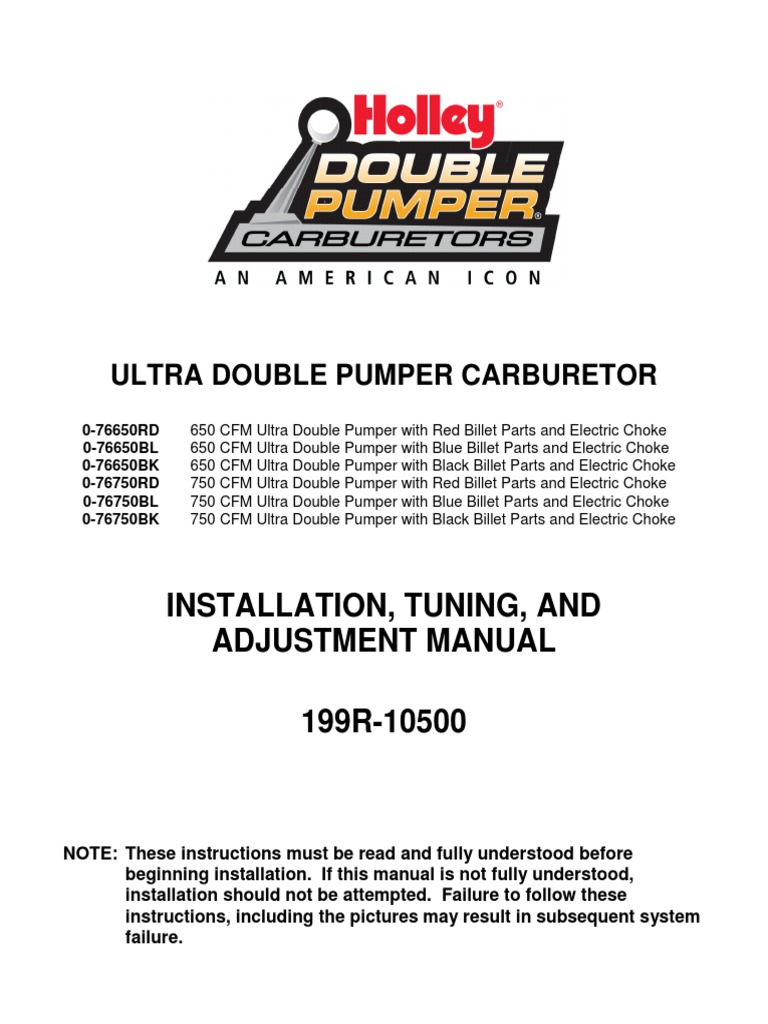 199R10500 pdf   Throttle   Carburetor