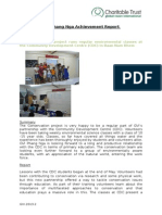 GVI Monthly Achievements Report Phang Nga August 2014 - Conservation Classes at CDC