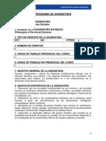 Programa Filosofía de Las Ciencias Sociales 2014