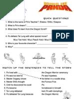 Kung Fu Panda Movie Worksheet