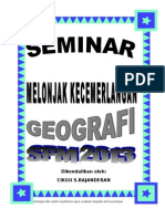 Seminar Geografi SPM 2013