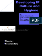 Developing IP Culture and Hygiene
