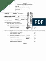 Muhlenberg Vitale Bill Legislative History Checklist