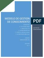 Trabajo Modelo de Gestion de Conocimiento Final