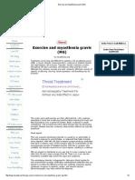 Exercise and Myasthenia Gravis (MG)