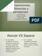 Comparaciones, Diferencias y Semejanzas.
