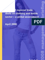 Impact of regional trade deals on clothing and textile sector – a global assessment