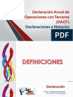 Declaración Anual de Operaciones Con Terceros