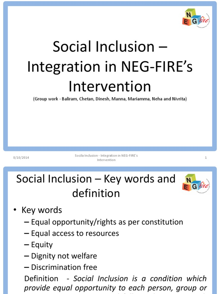 social inclusion presentation | social exclusion | equality rights