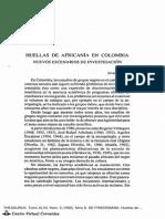 Huellas de Africania en Colombia