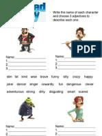 Flushed Away Adjectives Worksheet 1
