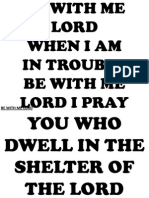 BE WITH ME LORD