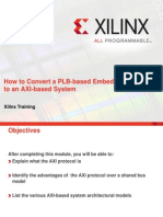 How to Convert a Plb Based Embd System to an Axi Based System
