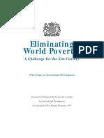 Eliminating World Poverty Challenge