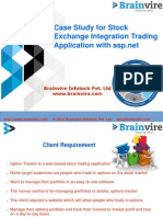 Case Study for Stock Exchange Integration Trading Application with asp.net