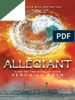 Divergent Trilogy 3 - Allegiant
