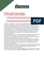 com0859 070906 Política social del Gobernador Eugenio Hernández es una realidad  en Tamaulipas