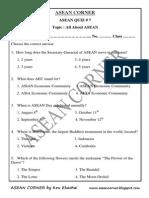 Asean Quiz 7