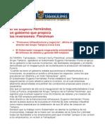 com0862 090906 El de Eugenio Hernández, un gobierno que propicia las inversiones