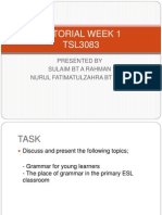 Tutorial Week 1