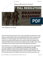 Bhramin Bashing published in web