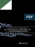 Guía Higiénico Sanitaria Tattoo