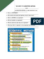 do now 3 scientific method