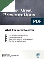 Building Great Presentations